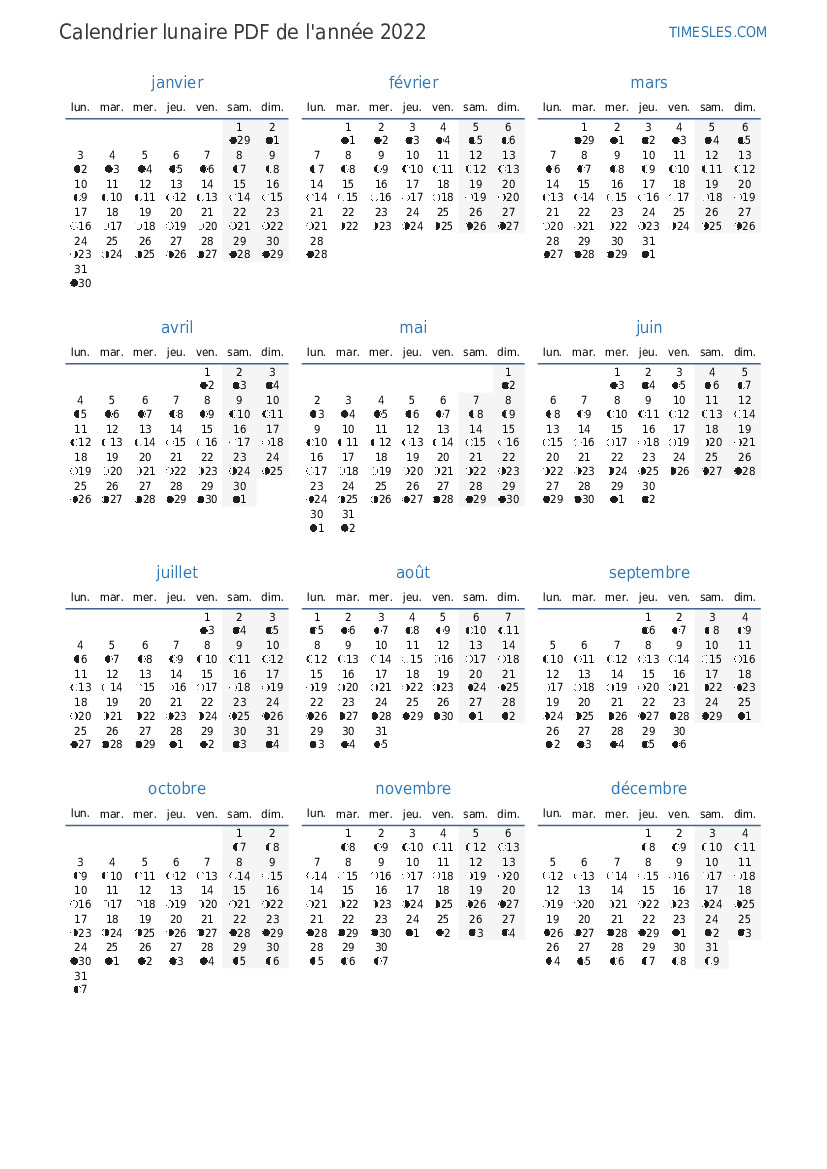 Calendrier Lunaire 2022 Mai Calendrier lunaire de mai 2022 | Télécharger le calendrier lunaire