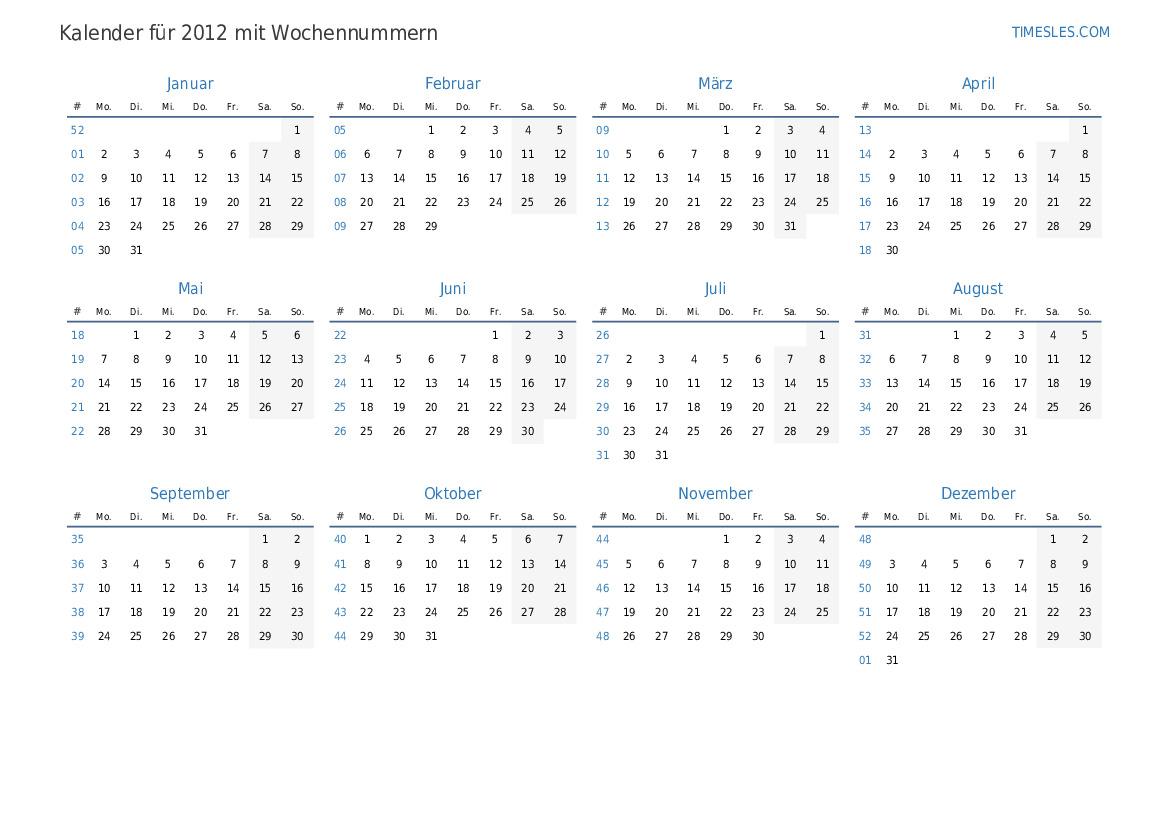 Kalender oktober 2012 2012